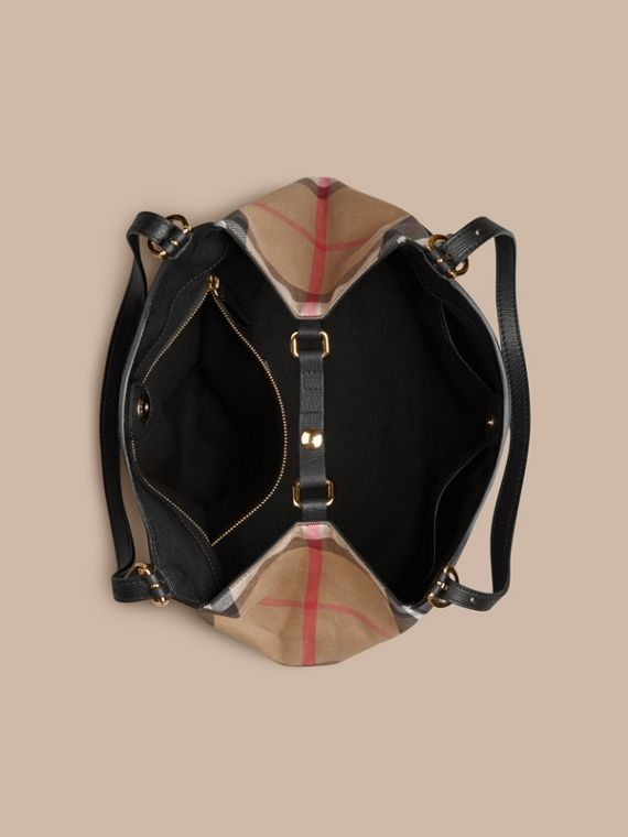 The Small Canter in Leather and House Check Black - cell image 3
