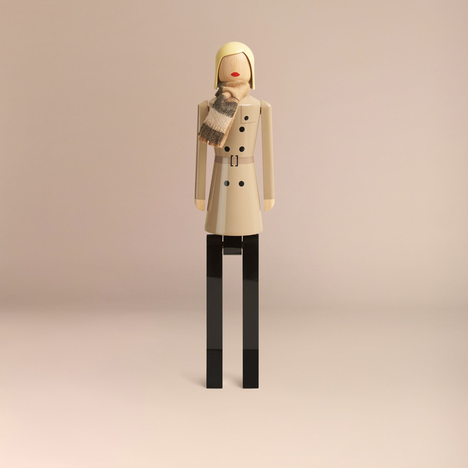 Multicolour Miss Trench Limited Edition Wooden Puppet - gallery image 4