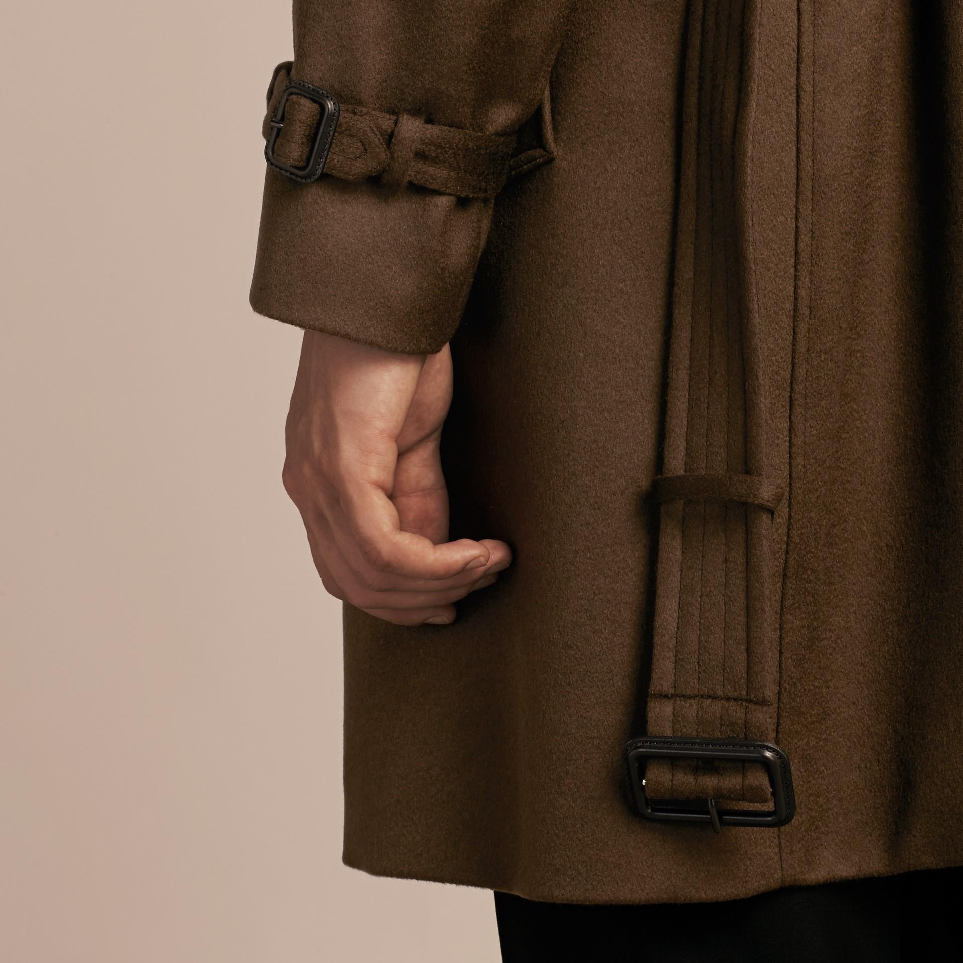Dark military khaki Cashmere Trench Coat Dark Military Khaki - gallery image 6