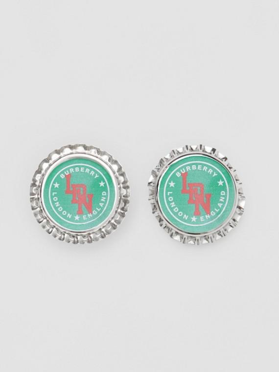 鍍鈀金瓶蓋耳環 (帕拉迪歐色)