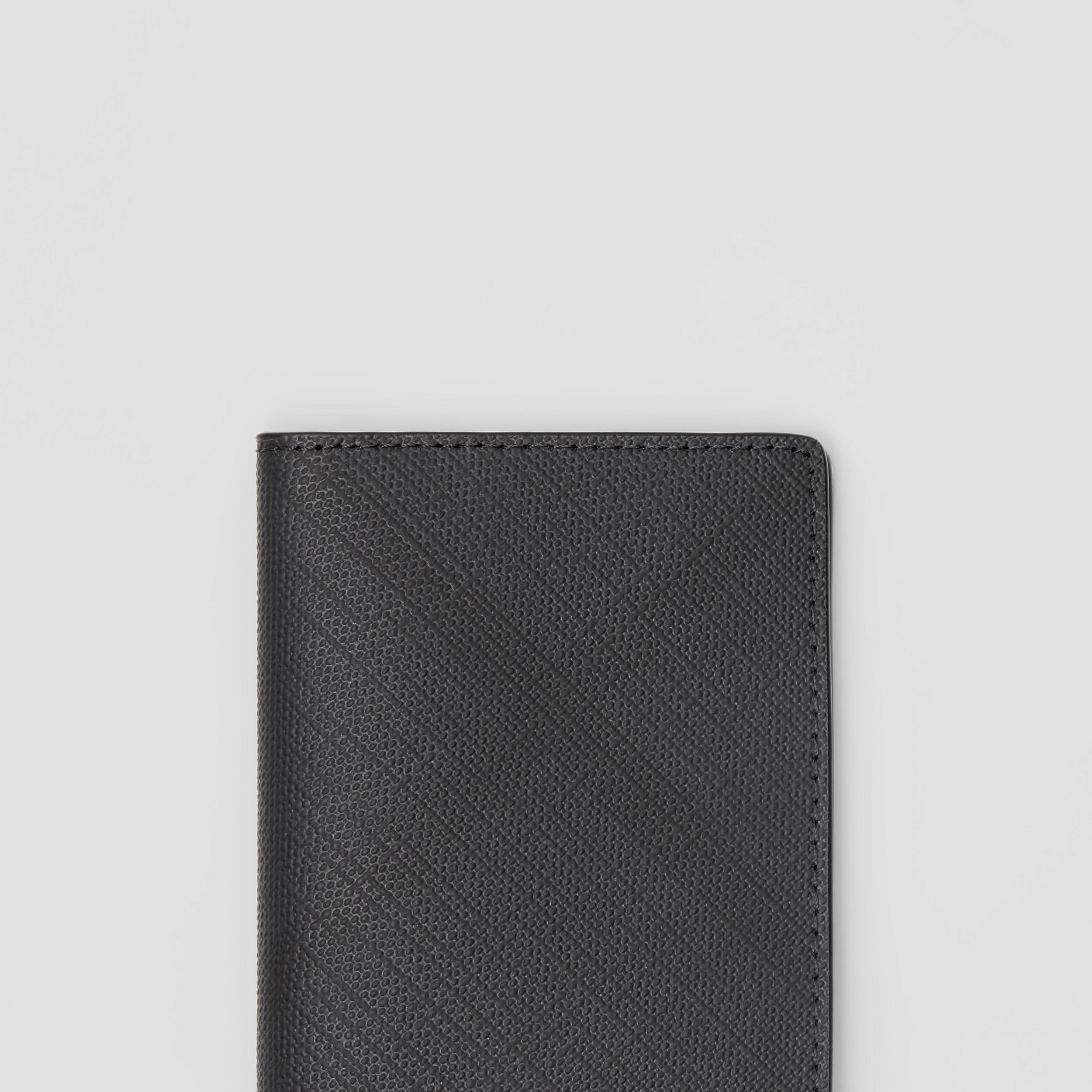 London Check and Leather Bifold Card Case in Dark Charcoal - Men | Burberry - 2