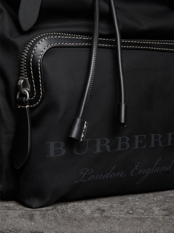 The Large Rucksack in Cotton Canvas in Black - Men | Burberry - cell image 1