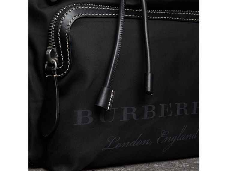 The Large Rucksack in Cotton Canvas in Black - Men | Burberry United Kingdom - cell image 1
