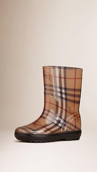 Classic Check Rain Boots