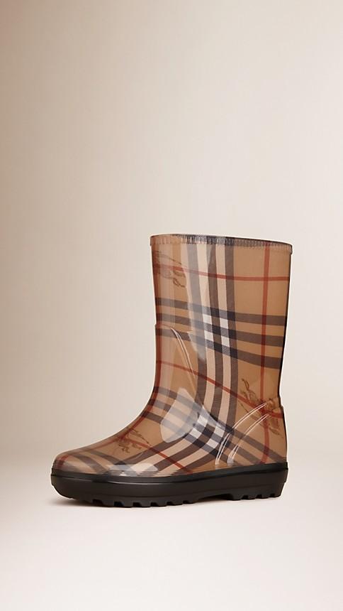 Haymarket Classic Check Rain Boots - Image 1
