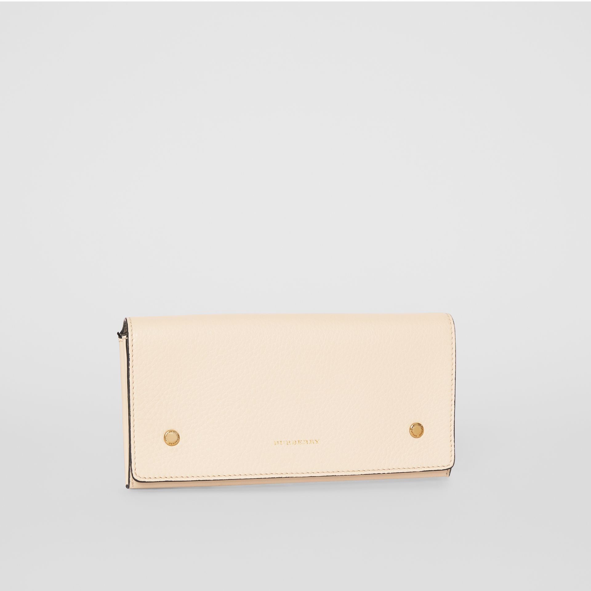 Two-tone Leather Continental Wallet in Limestone - Women | Burberry United States - gallery image 4