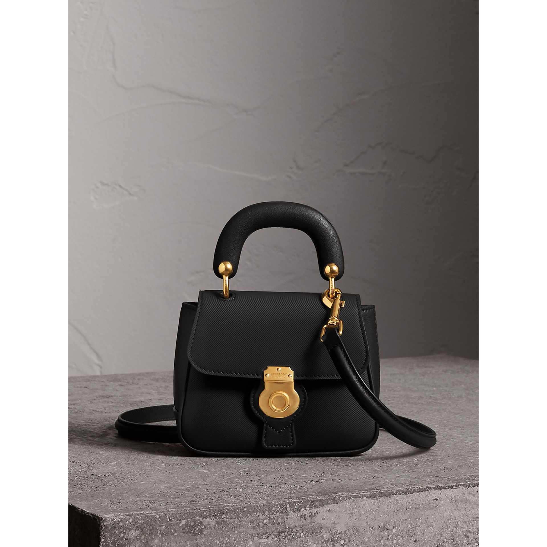 The Mini DK88 Top Handle Bag in Black - Women | Burberry - gallery image 1