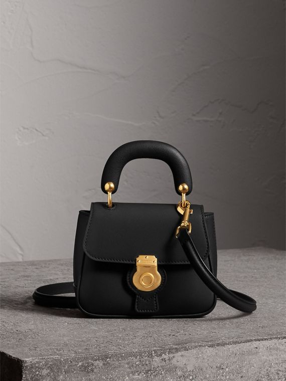 The Mini DK88 Top Handle Bag in Black