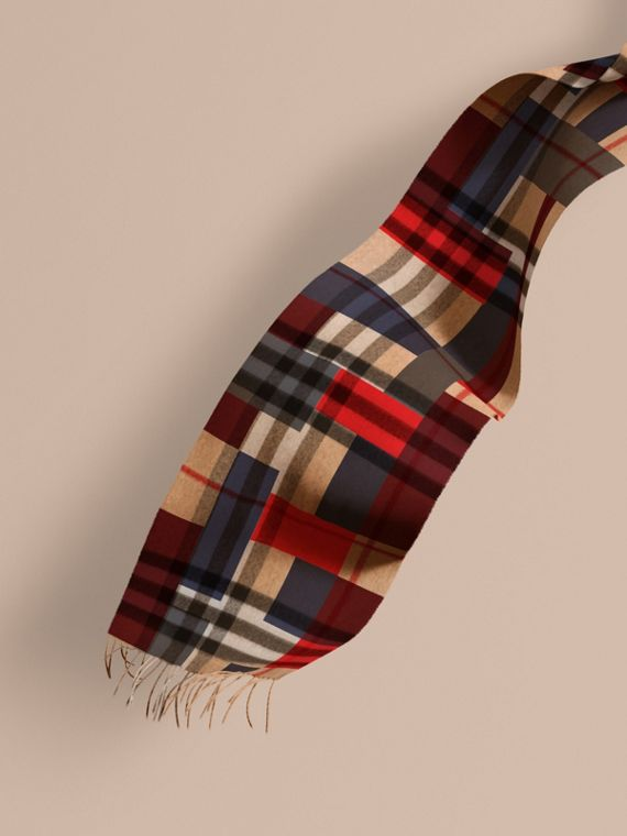 The Classic Cashmere Scarf in Colour Block Check | Burberry Canada
