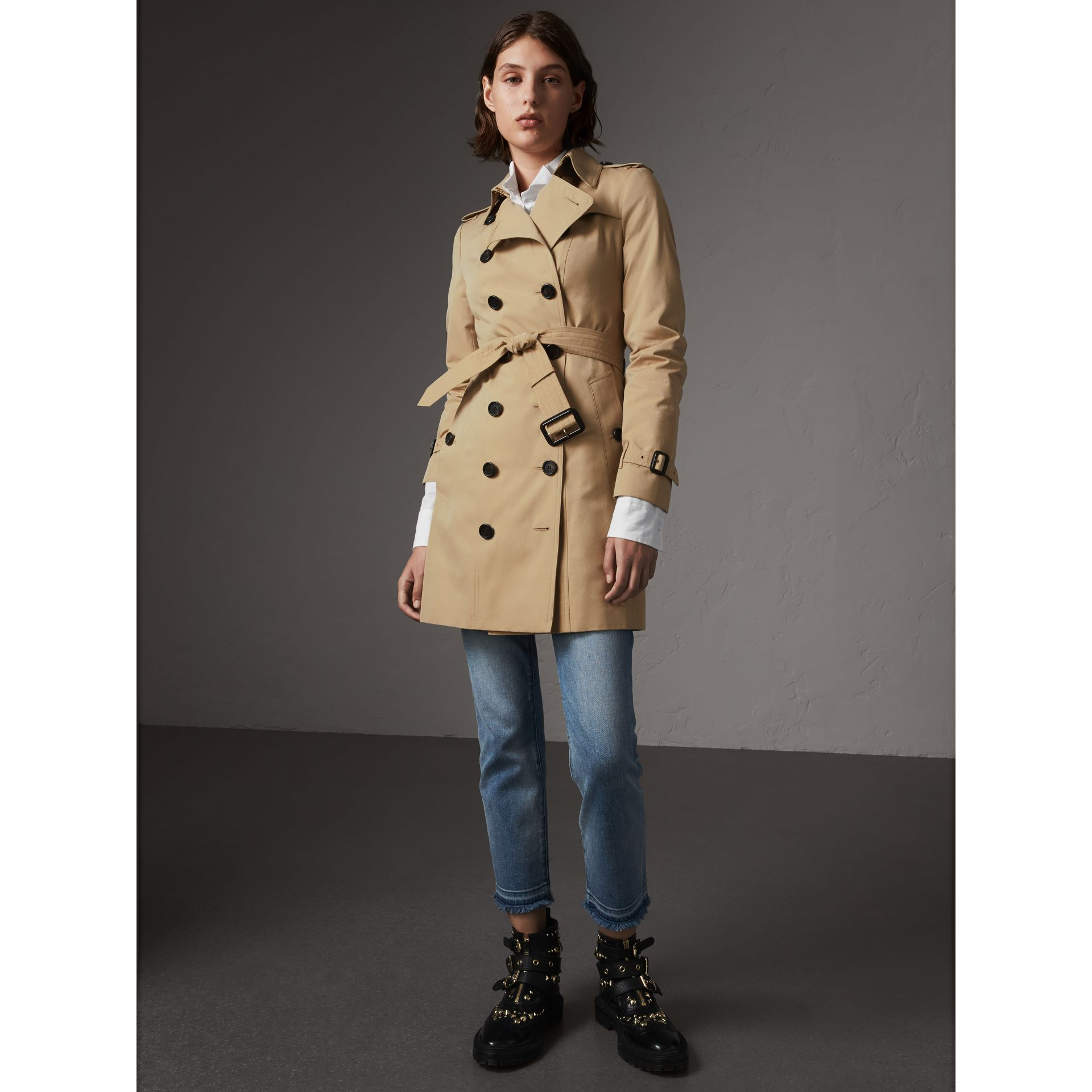 The Sandringham – Mid-length Trench Coat in Honey - Women | Burberry Australia - gallery image 6