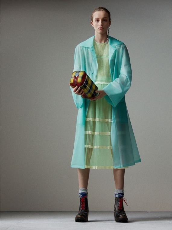 Soft-touch Plastic Car Coat in Turquoise