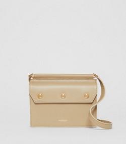 816d66da8 Mini Leather Title Bag in Honey
