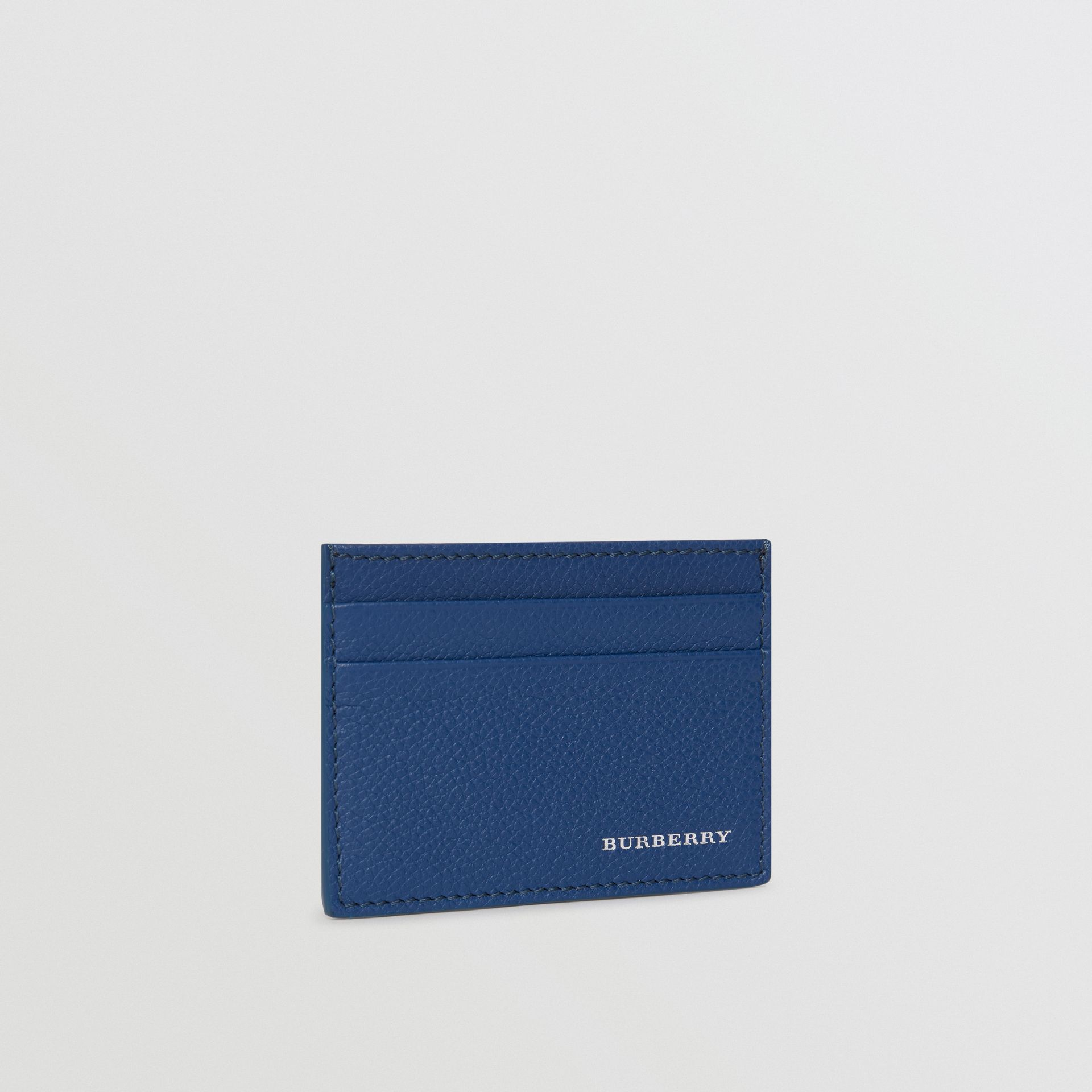 Grainy Leather Card Case in Bright Ultramarine | Burberry - gallery image 4