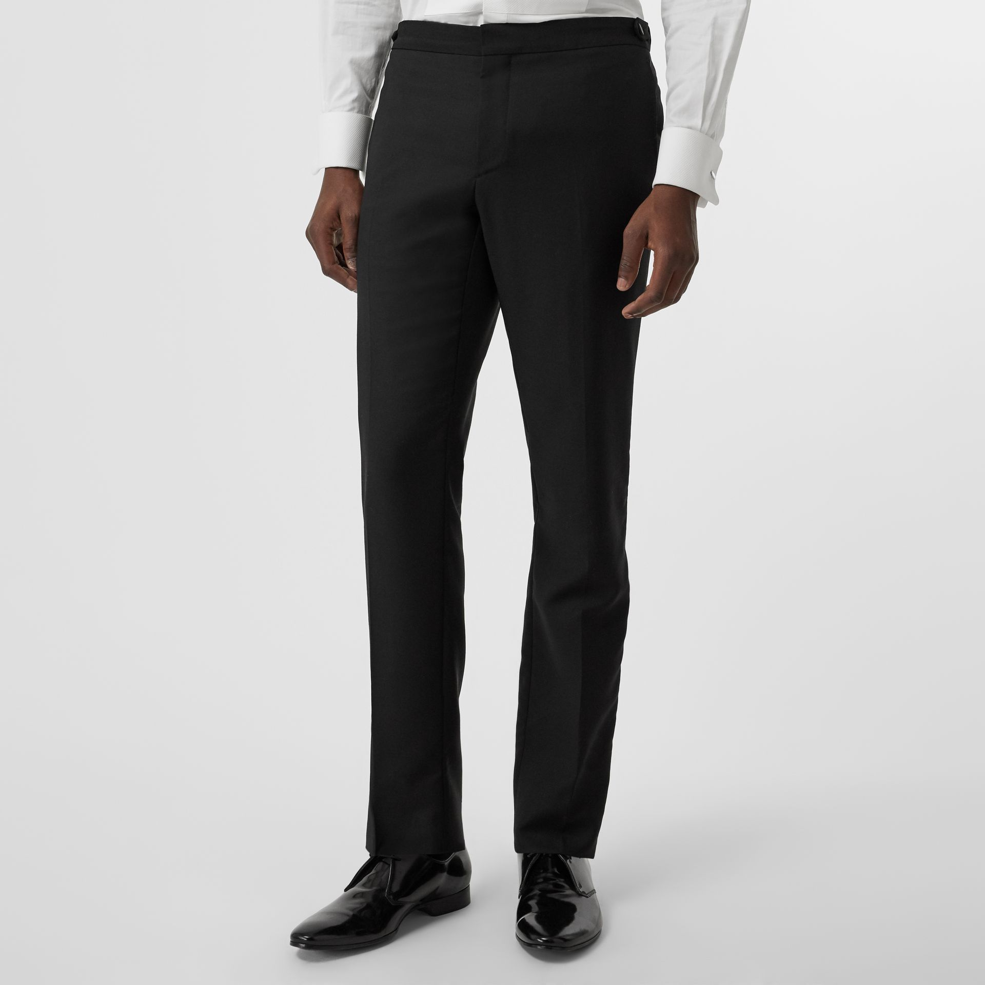 Modern Fit Wool Mohair Tuxedo in Black - Men | Burberry - gallery image 5
