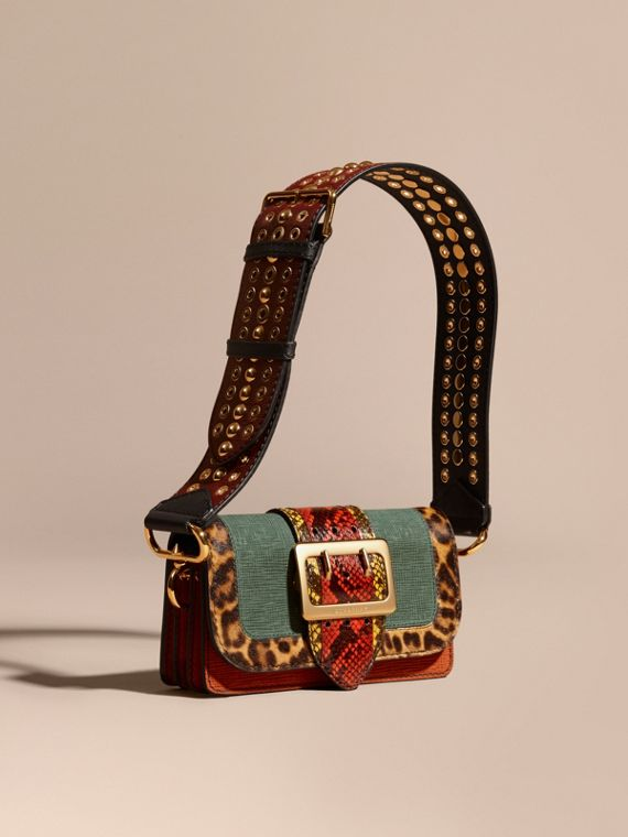The Patchwork in Textured Suede and Leopard-print Calfskin - Women   Burberry