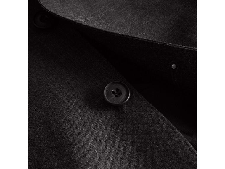 Modern geschnittener Part-Canvas-Anzug aus Wolle (Anthrazitfarben) - Herren | Burberry - cell image 1