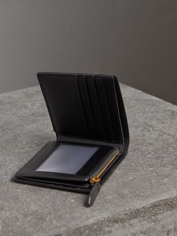 London Check International Bifold ID Coin Wallet in Chocolate/black - Men | Burberry - cell image 3