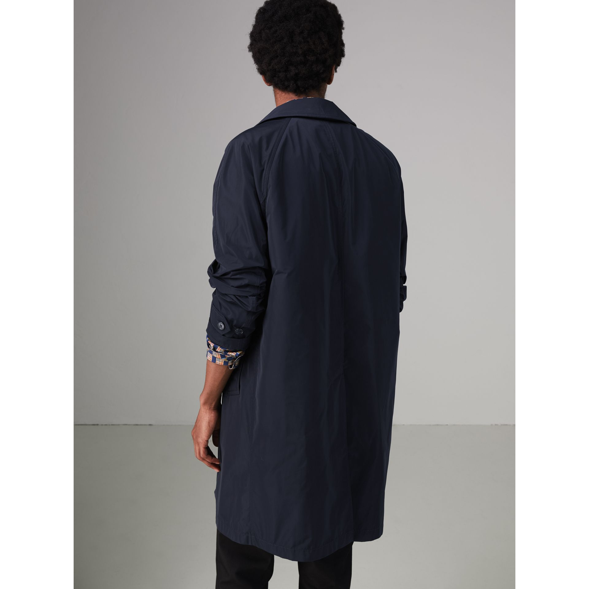Shape-memory Taffeta Car Coat in Navy - Men | Burberry - gallery image 2
