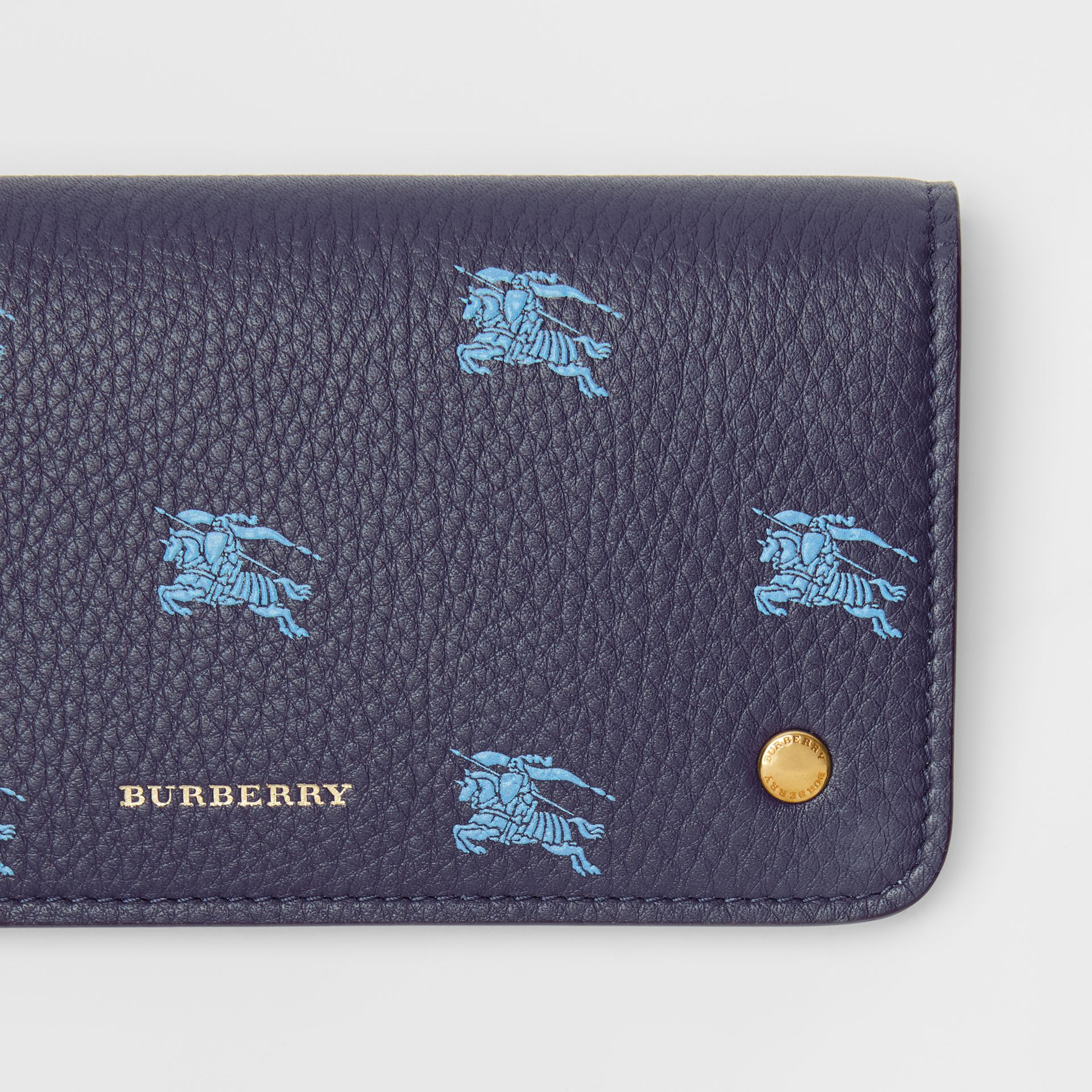 EKD Leather Phone Wallet in Regency Blue - Women | Burberry Australia - gallery image 1