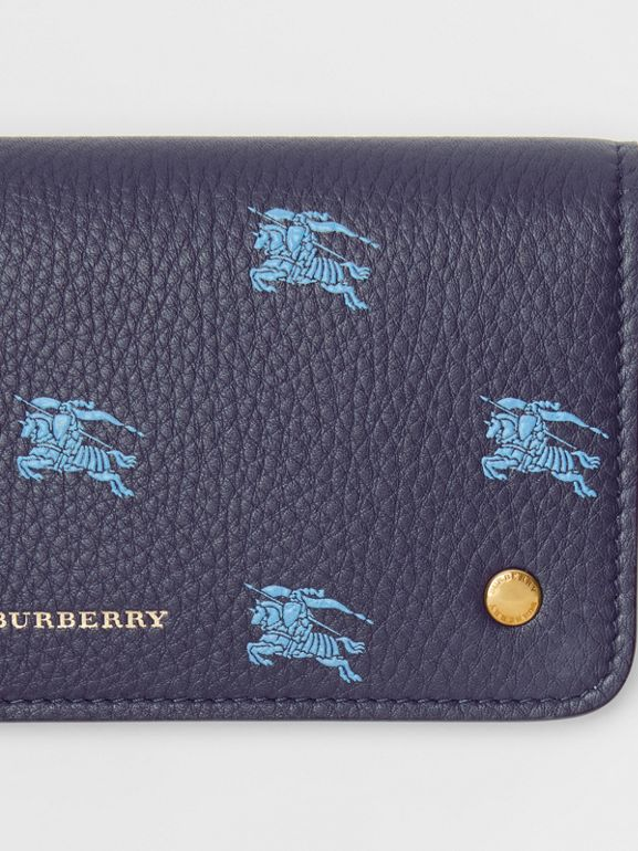 EKD Leather Phone Wallet in Regency Blue - Women | Burberry - cell image 1