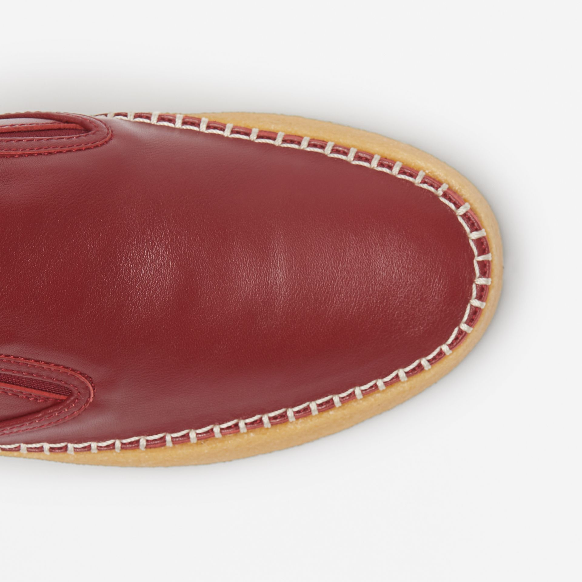 Leather Slip-on Sneakers in Bordeaux - Women | Burberry United States - gallery image 1