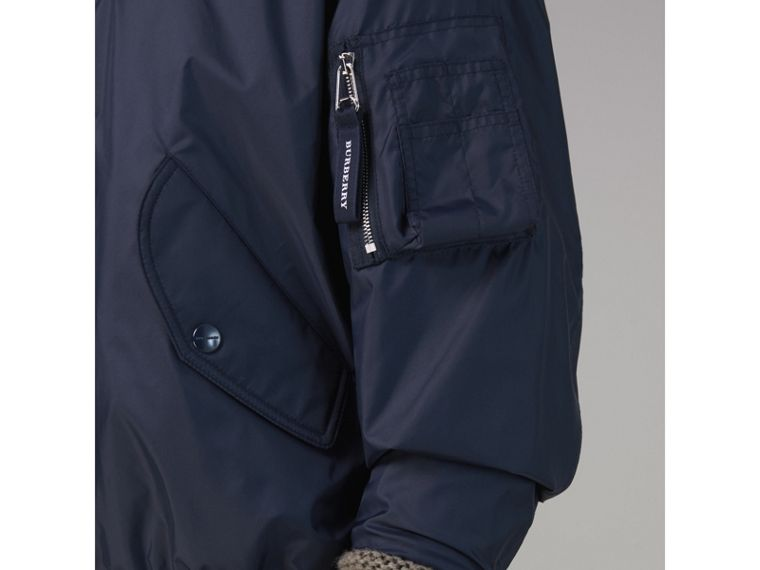 Lightweight Showerproof Bomber Jacket in Navy - Men | Burberry - cell image 4