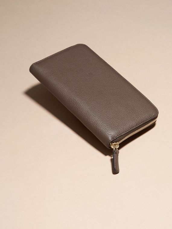 Deep taupe brown Grainy Leather Ziparound Wallet Deep Taupe Brown - cell image 3