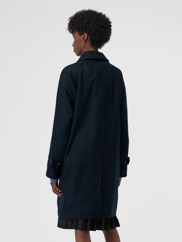 Cashmere Car Coat in Navy - Women | Burberry - cell image 2