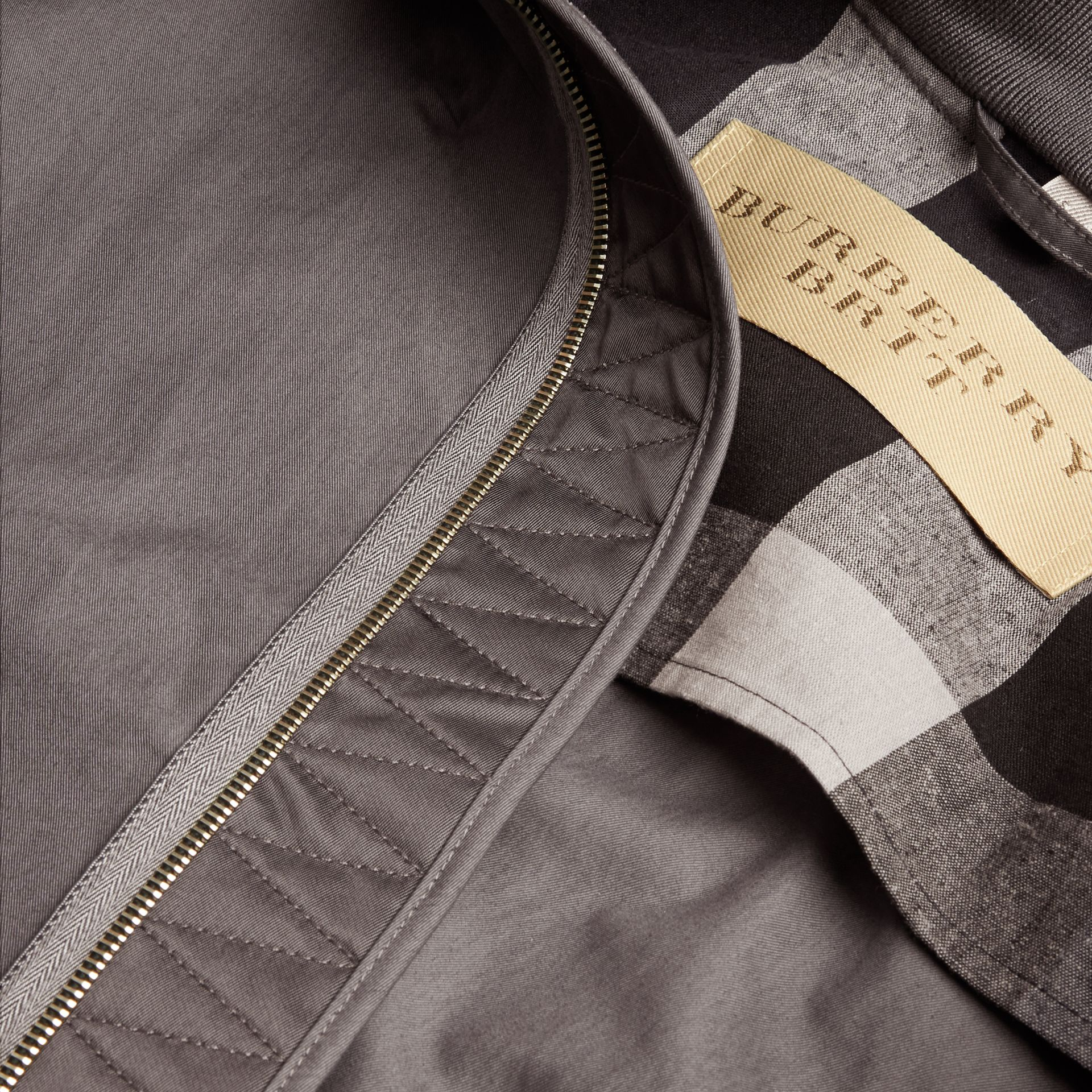 Airforce grey Matte Technical Cotton Bomber Jacket - gallery image 2