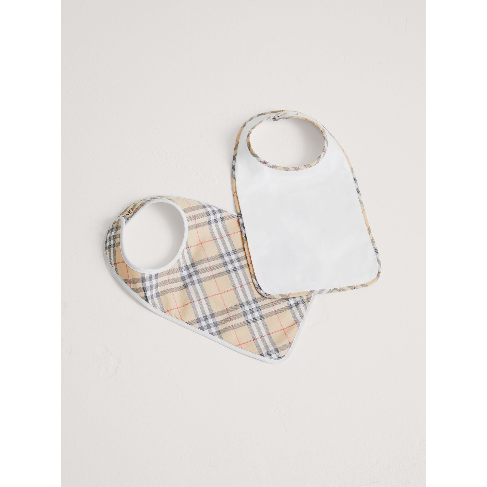 Cotton Two-piece Baby Gift Set in White | Burberry - gallery image 0
