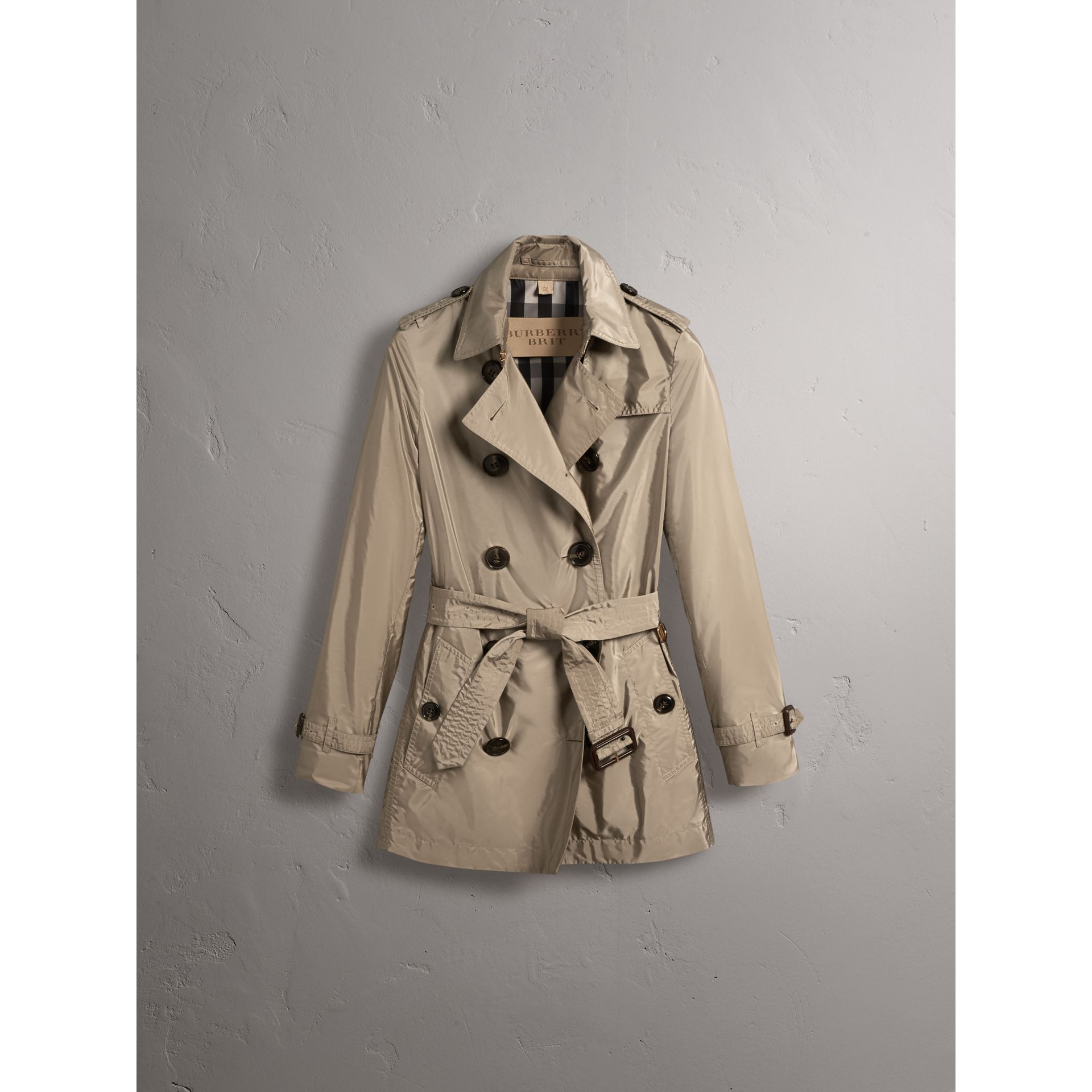 Lightweight Trench Coat in Sisal - gallery image 4