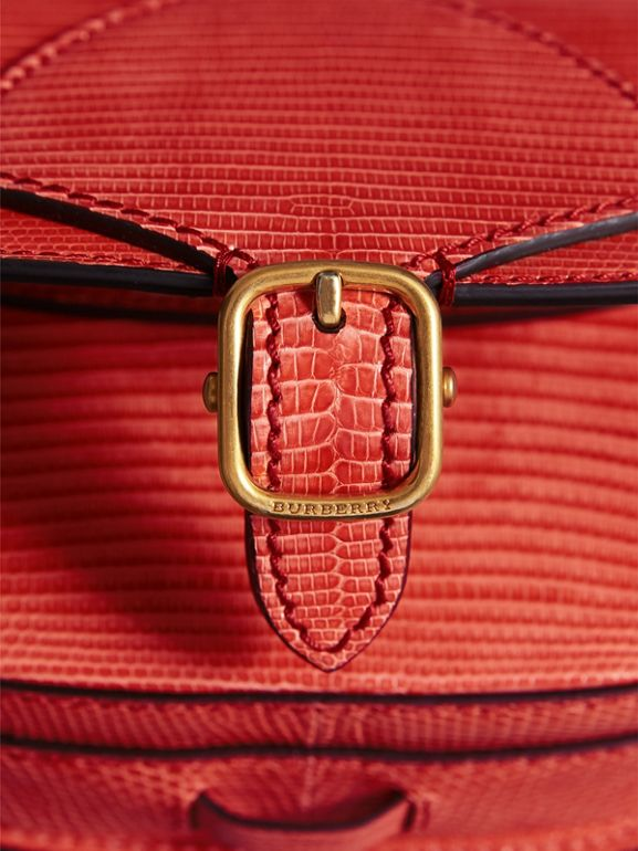 Sac The Satchel en lézard (Rouge Corail) - Femme | Burberry - cell image 1