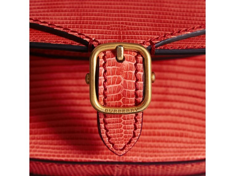 The Satchel in Lizard in Coral Red - Women | Burberry - cell image 1