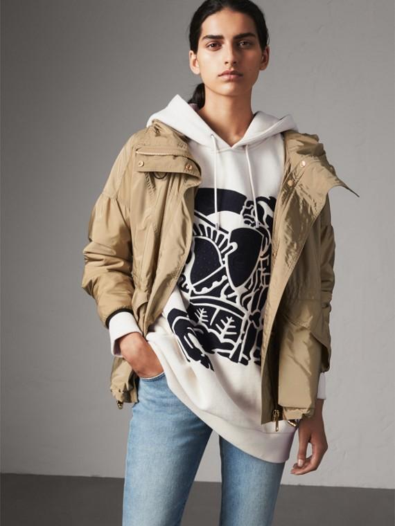 Packaway Hood Lightweight Rain Jacket in Sisal