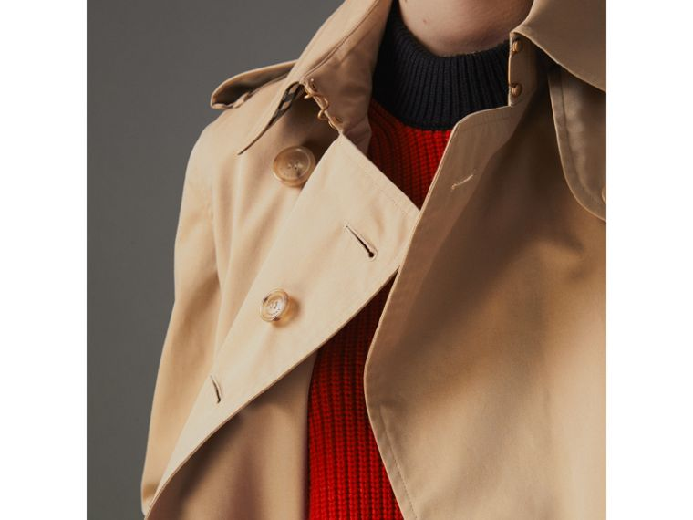 The Long Kensington Heritage Trench Coat in Honey - Women | Burberry - cell image 1