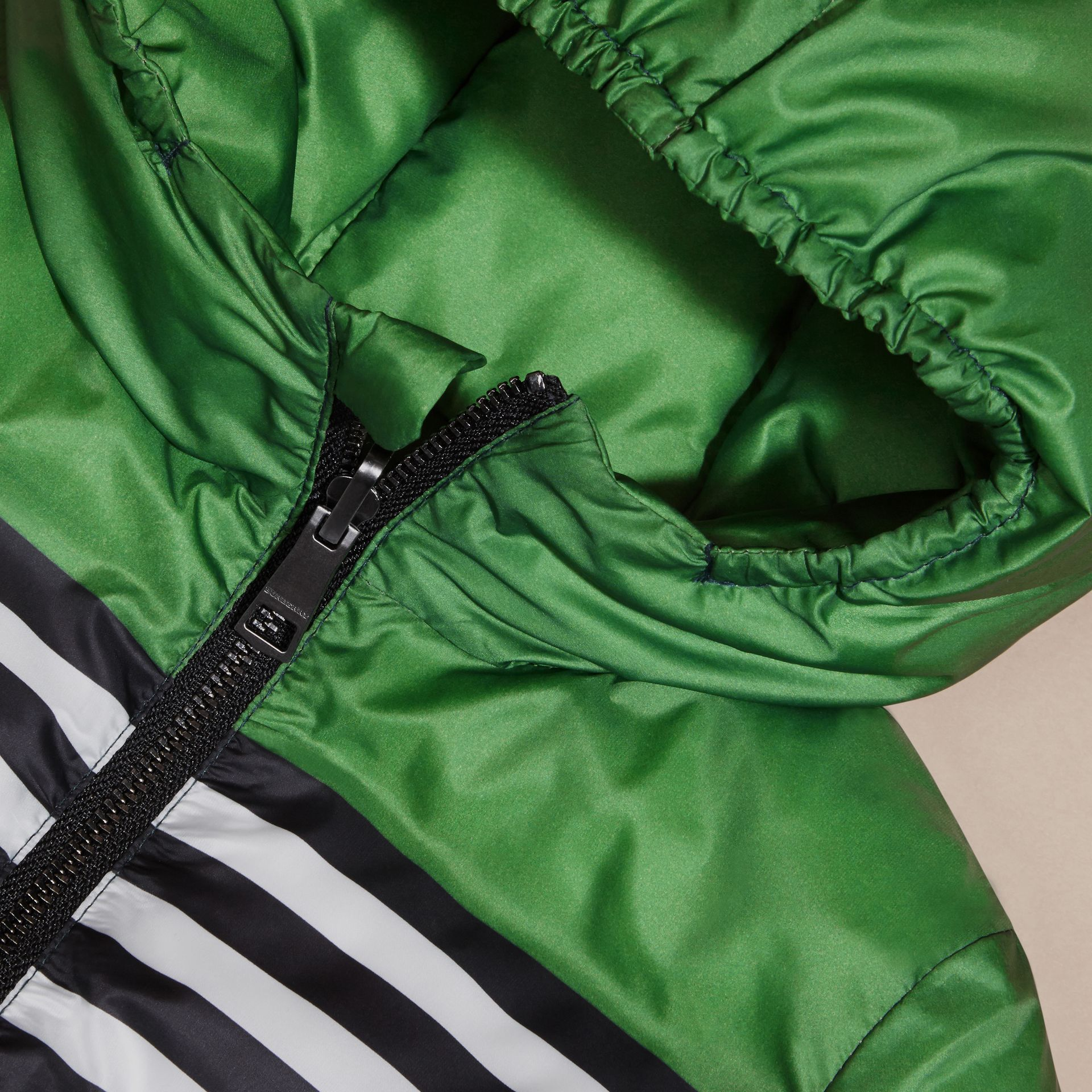 Bright fern green Reversible Down-filled Puffer Coat - gallery image 2