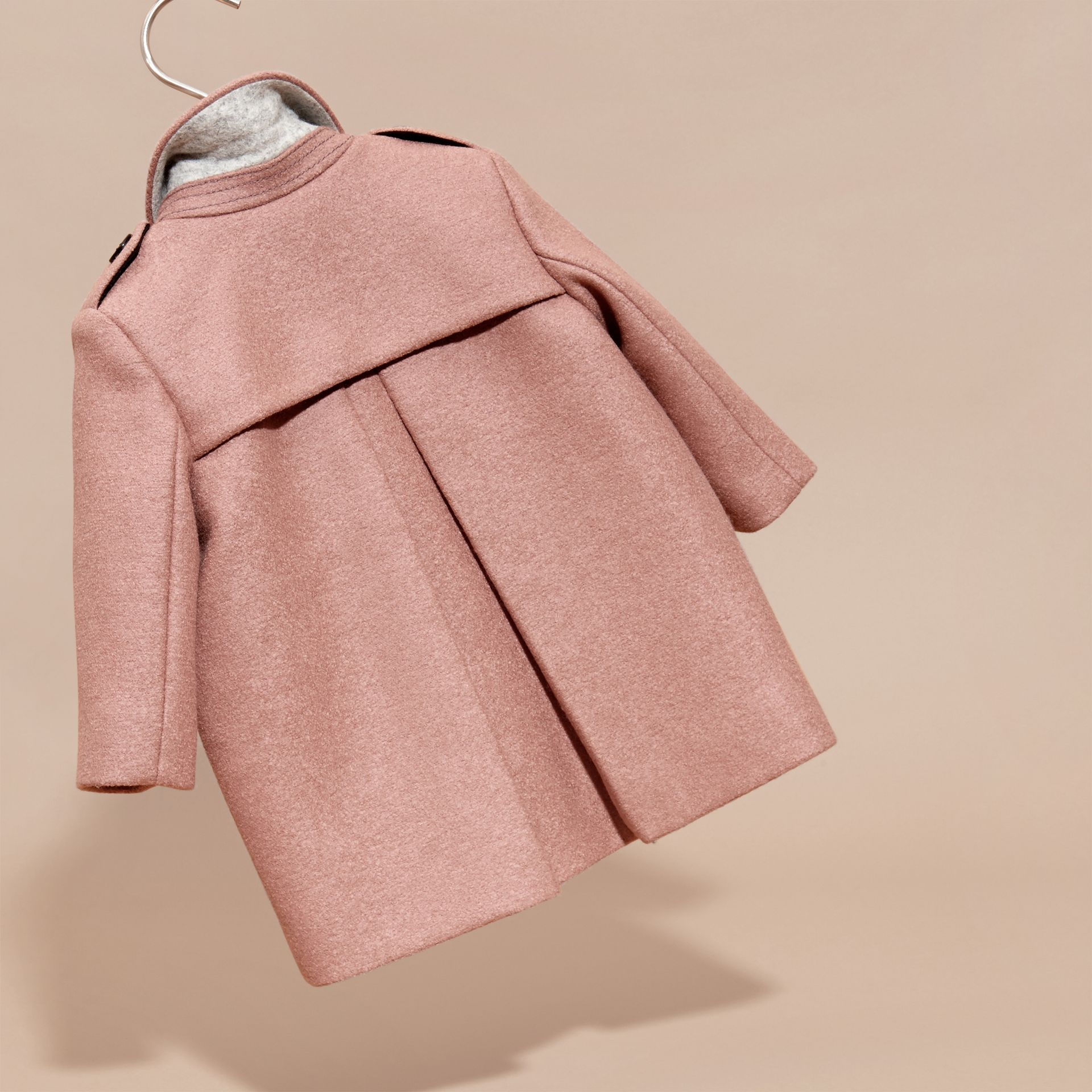 Pale ash rose Tailored Wool Coat - gallery image 4