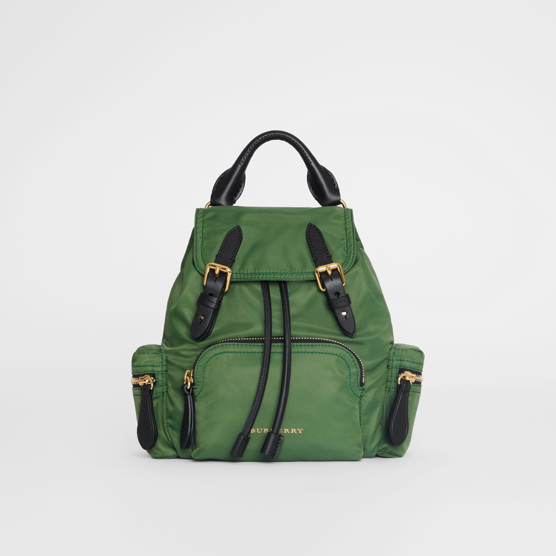 The Small Crossbody Rucksack in Nylon in Racing Green - Women | Burberry United Kingdom - gallery image 0