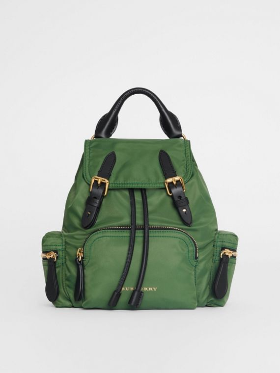 Zaino The Rucksack piccolo in nylon con tracolla (Verdone)