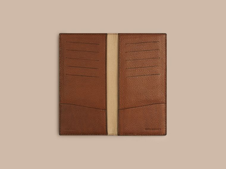 Grainy Leather Travel Card Case Tan - cell image 1
