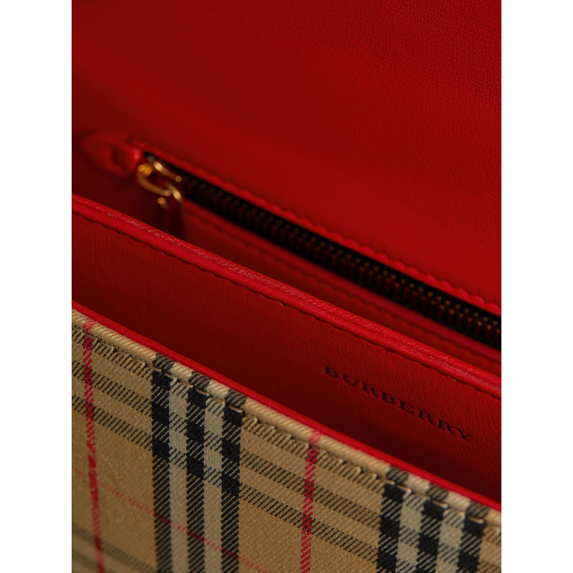 The 1983 Check Link Bag with Patent Trim in Bright Red - Women | Burberry - gallery image 5