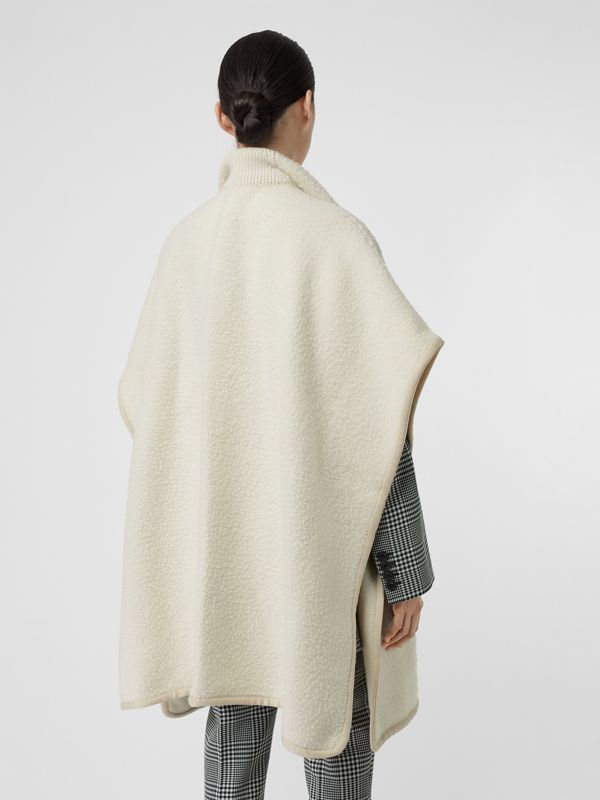 Wool Fleece Cape in Ivory - Women | Burberry Australia - cell image 2