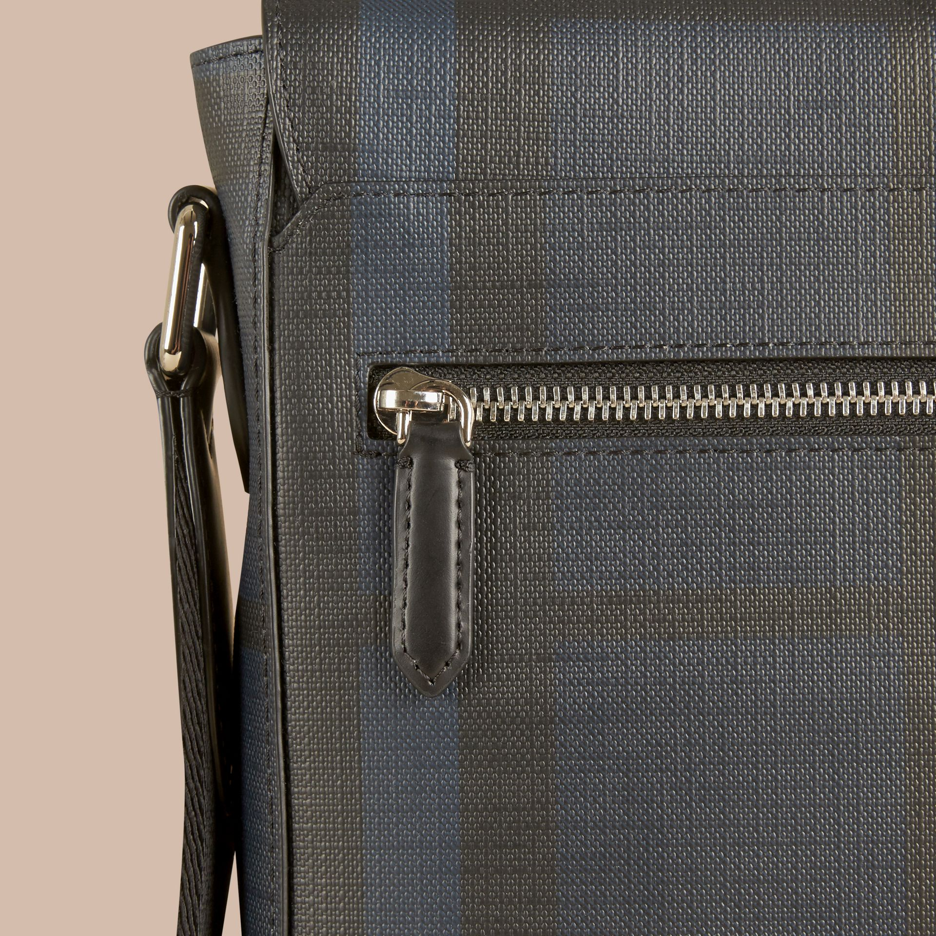 Navy/black London Check Crossbody Bag Navy/black - gallery image 6