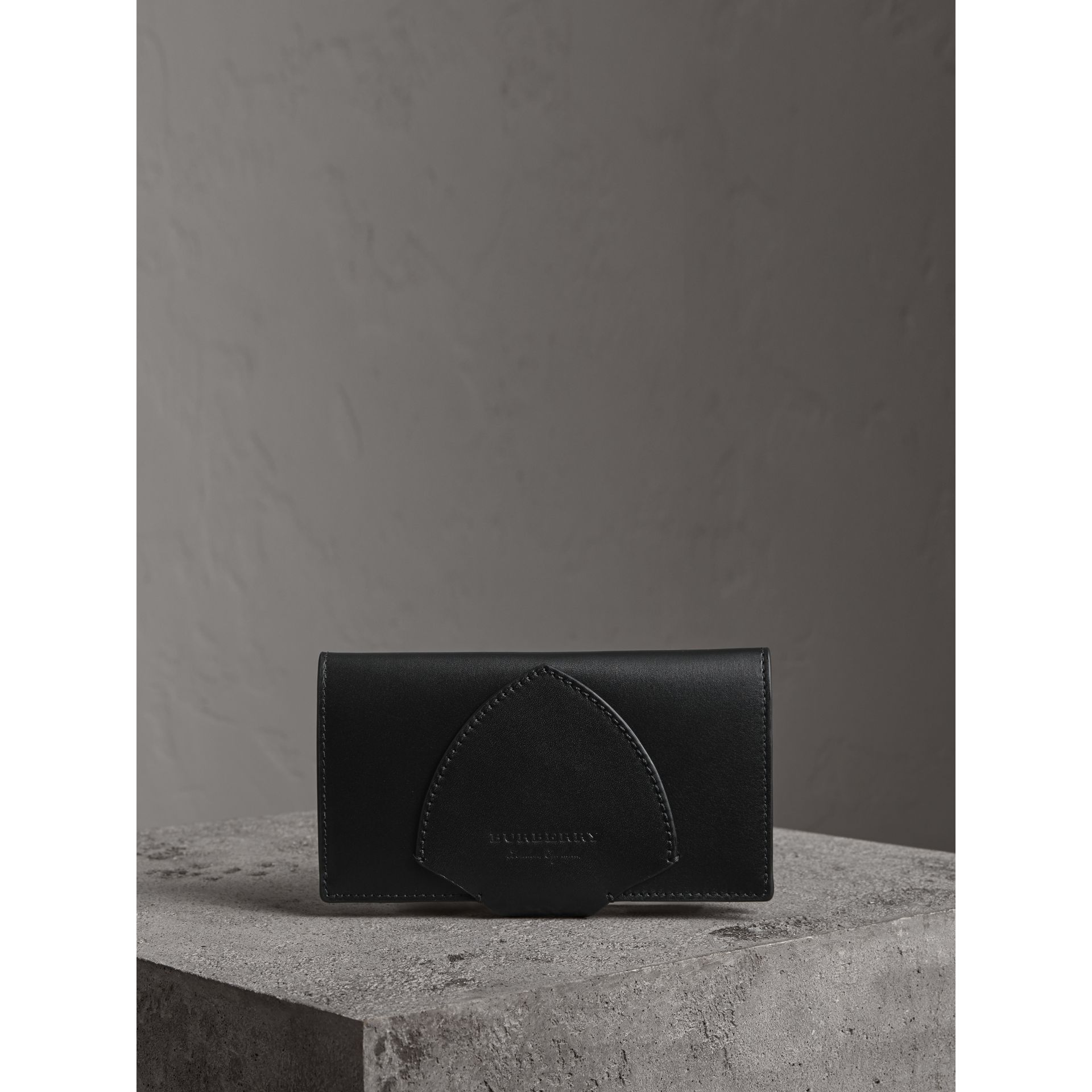 Equestrian Shield Leather Continental Wallet in Black - Women | Burberry - gallery image 4