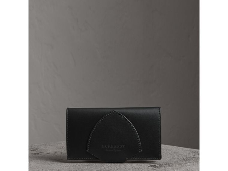 Equestrian Shield Leather Continental Wallet in Black - Women | Burberry United Kingdom - cell image 4
