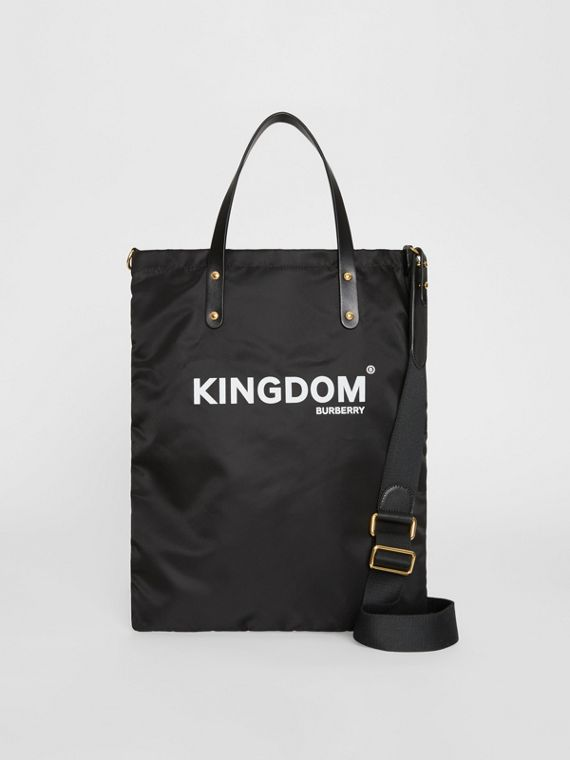 Kingdom Print Nylon Tote in Camel