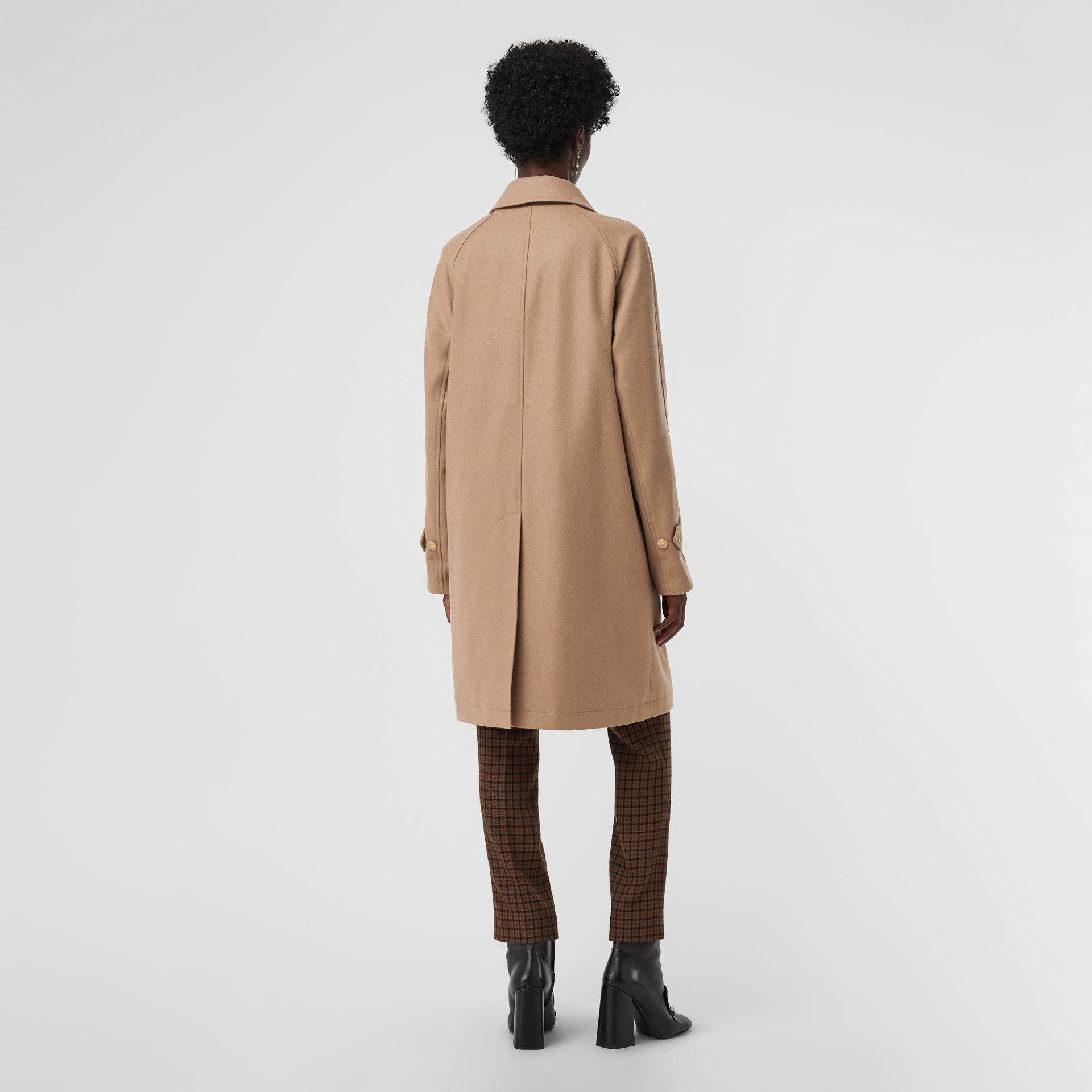 Cashmere Car Coat in Camel - Women | Burberry Australia - gallery image 2