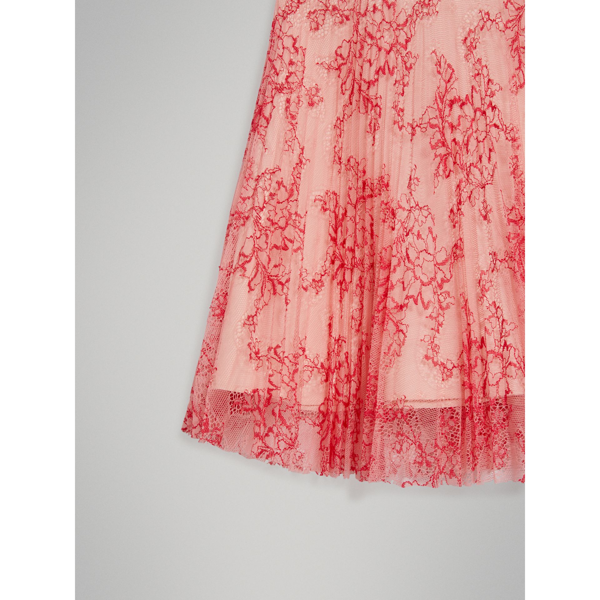 Pleated Lace Skirt in Pale Apricot/coral - Girl | Burberry - gallery image 4
