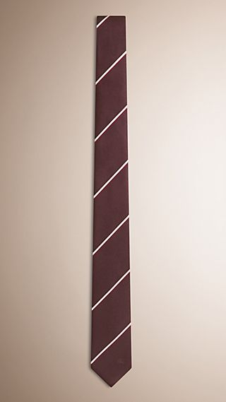 Slim Fit Striped Silk Tie