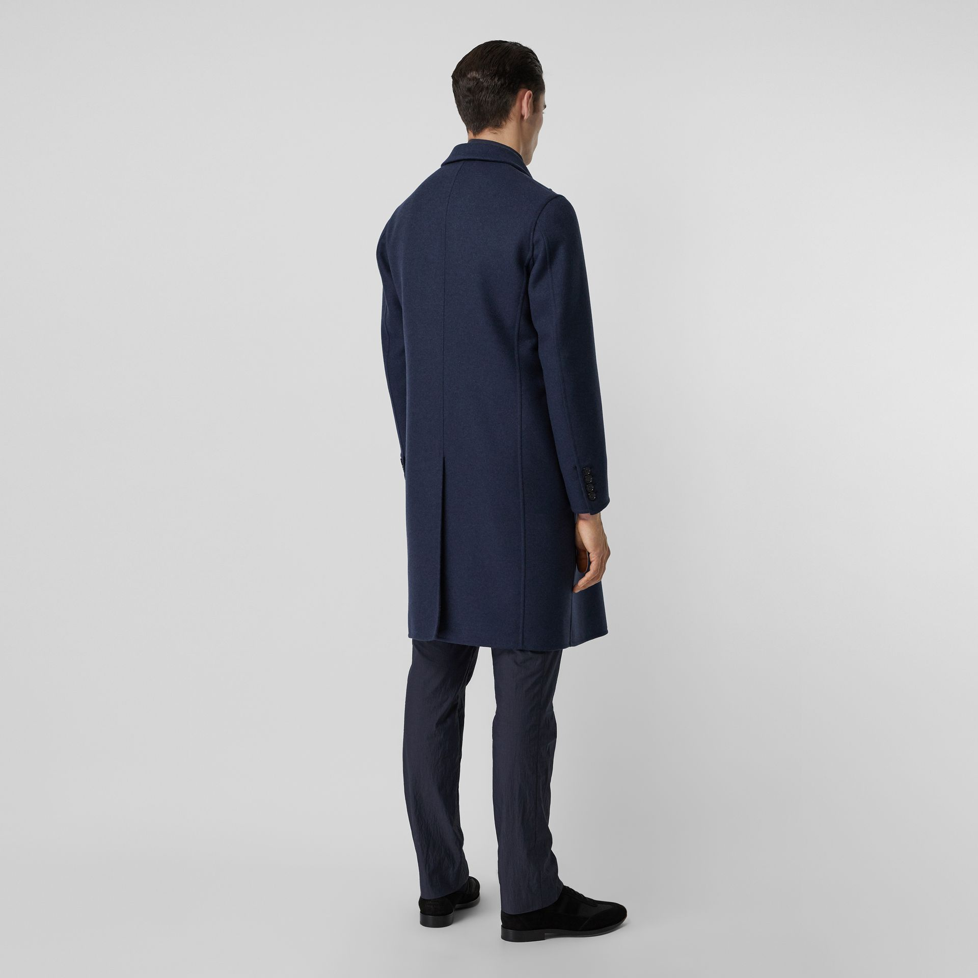 Double-faced Wool Cashmere Tailored Coat in Steel Blue Melange - Men | Burberry Canada - gallery image 2
